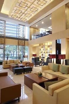 上海浦西万怡酒店大堂