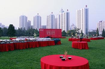 北京五洲大酒店草坪餐