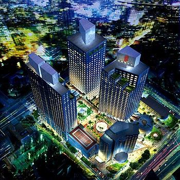 宁波东港波特曼大酒店酒店鸟瞰效果图图片