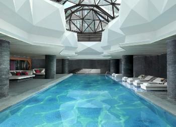 天津海河英迪格酒店泳池