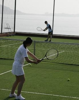 威海金海湾国际饭店网球场