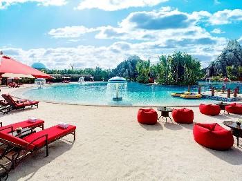 海口观澜湖温泉酒店人造沙滩